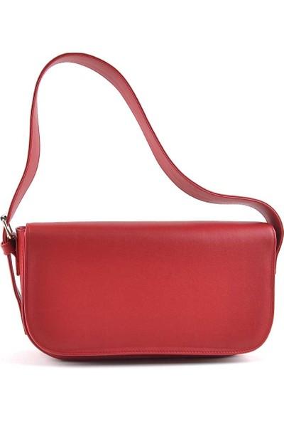 Allure Kırmızı Kapaklı Baget Çanta