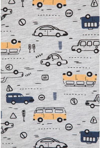 Paty Kids Erkek Çocuk Arabalar Baskılı Sweatshirt