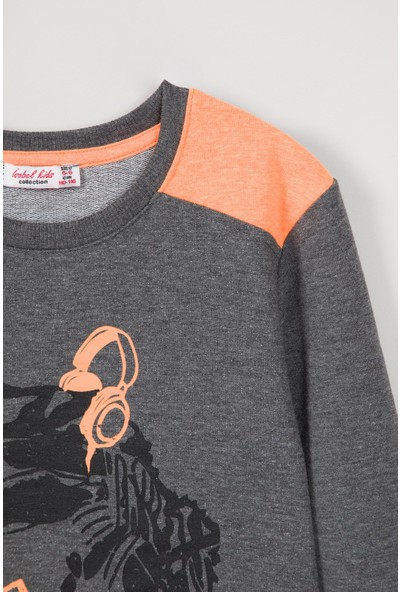 Isobel Erkek Çocuk Dinozor Baskılı Sweatshirt