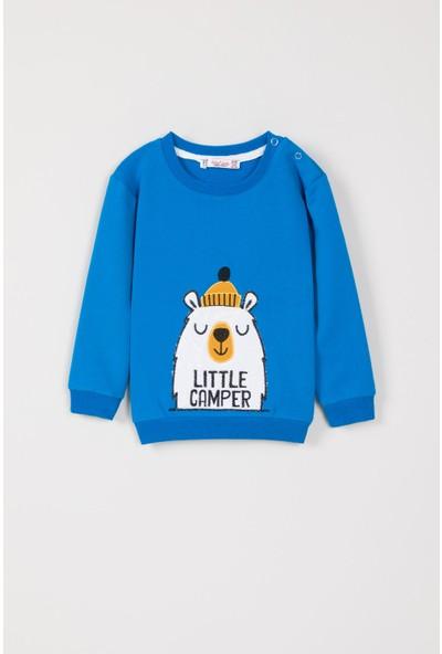Isobel Erkek Bebek Ayı Nakışlı Sweatshirt