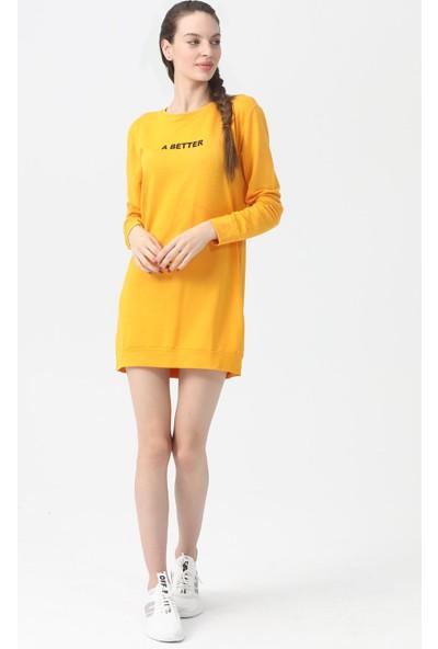 Akbaba Moda Kadın Tunik Sarı