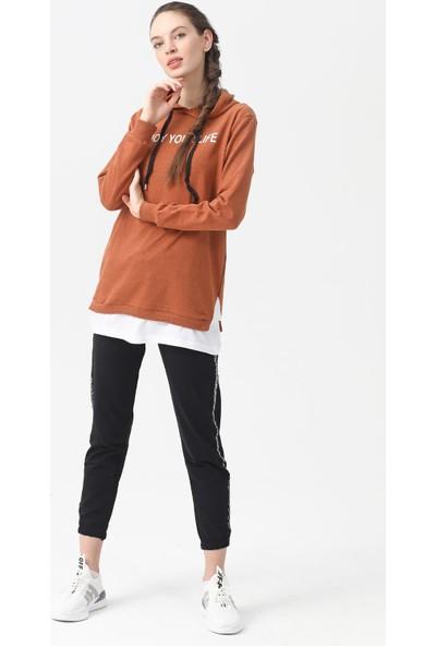 Akbaba Moda Kadın Sweat Taba