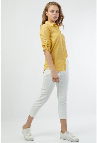 Pera Club Pamuk Sarı Gömlek