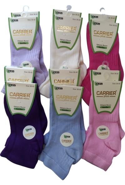 Carrier Plus Kadın Bambu Uzun Patik Çorap 12 Çift