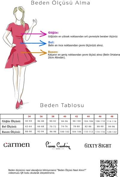 Carmen Gold Damla Jakar Kısa Abiye Elbise