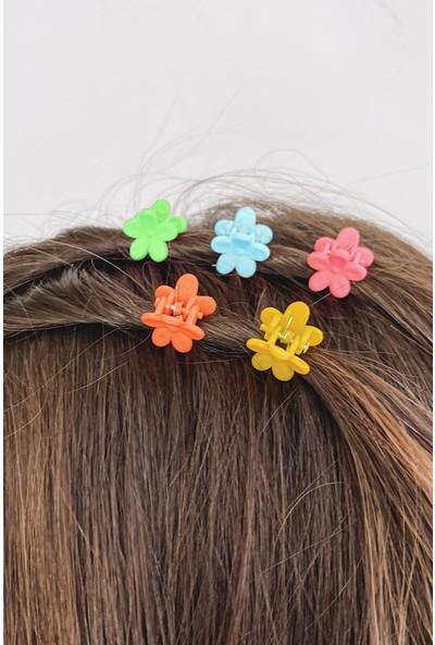 New Obsessions Renkli Mini Çiçek Mandal Toka Seti