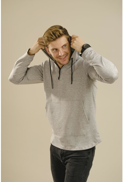 Oksit Hilti 800009 Ince Fermuar Detaylı Sweatshirt