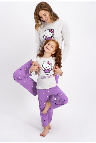 Hello Kitty Lisanslı Kız Çocuk Pijama Takımı