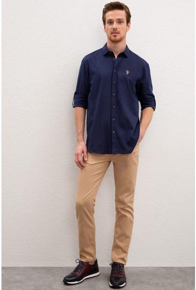 U.S. Polo Assn. Erkek Gömlek Uzunkol Basic 50218991-Vr033