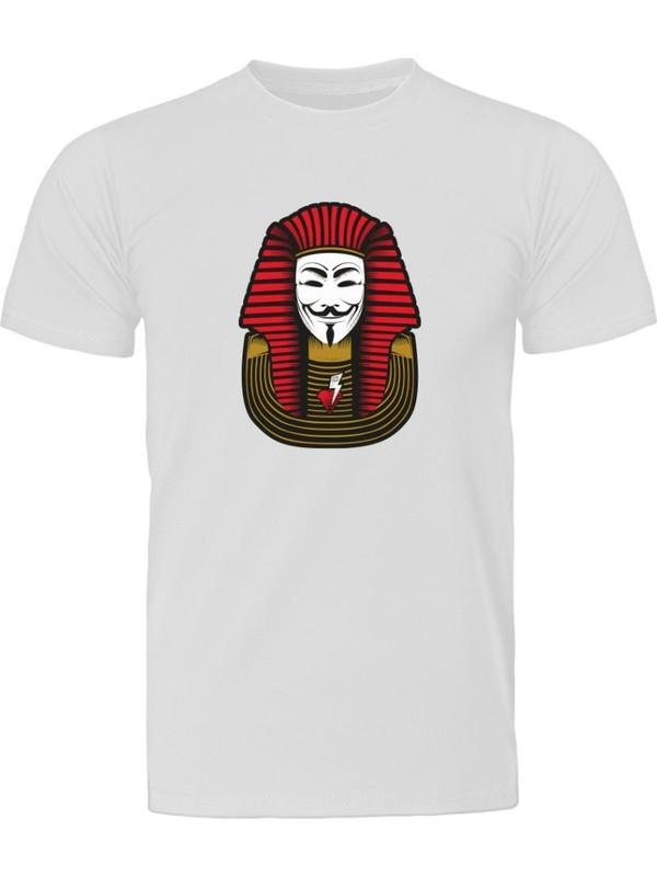 Fandomya Antik Mısır Firavun Vendetta Beyaz Tişört