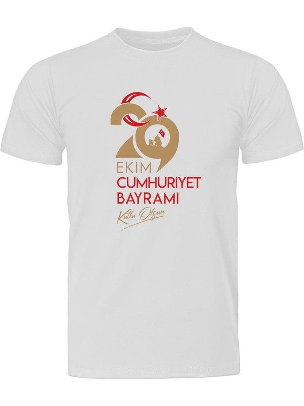 Fandomya Cumhuriyet Bayramı 29 Ekim Beyaz Tişört