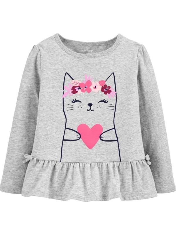 Carter's Kedi Desenli Çocuk Sweatshirt