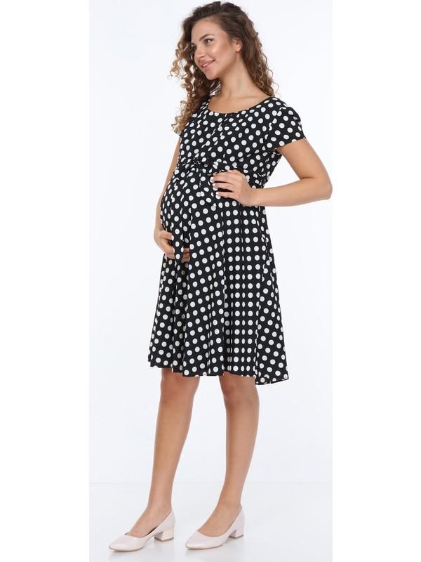 Entarim Hamile Şifon Elbise