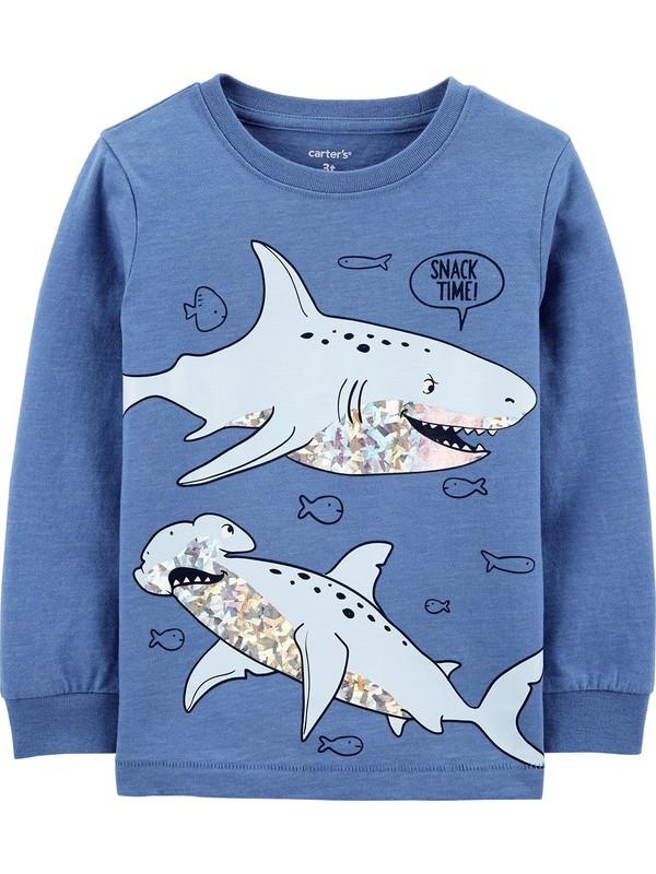 Carter's Köpek Balığı Desenli Çocuk Sweatshirt