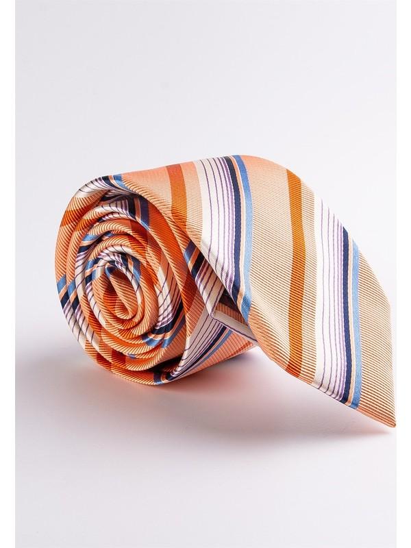 Dufy A.turuncu İpek Erkek Kravat
