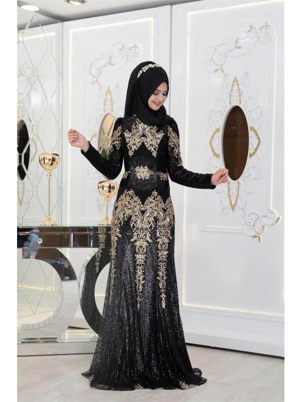 Pınar Şems Yeni Güneş Abiye Siyah