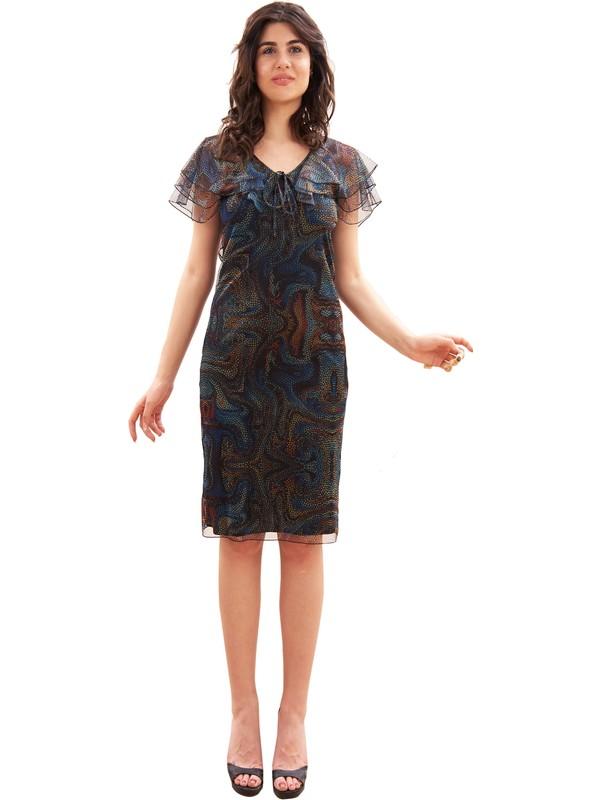 Sevgi Sert Kadın Tül Kumaş Elbise