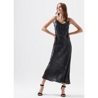 Mavi Kadın Askılı Desenli Uzun Elbise 130981-32546