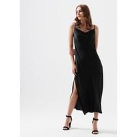 Mavi Kadın Askılı Siyah Uzun Elbise 130982-900