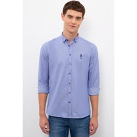 U.S. Polo Assn. Erkek Mavı Gömlek Uzunkol Basic 50219726-VR045