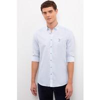 U.S. Polo Assn. Erkek Mavi Gömlek Uzunkol 50218748-VR036