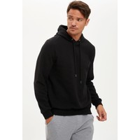 Defacto Erkek Kapüşonlu Regular Fit Basic Sweatshirt