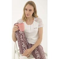 Pierre Cardin Kadın Bordo Pijama Takım 50234532-900
