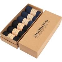 MOODLIGO Premium 3 Siyah 3 Lacivert Premium Bambu Çorap