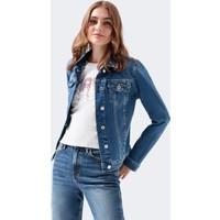 Daisy 90 s Zımparalı Mavi Jean Ceket 1113632061