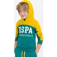 U.S. Polo Assn Lisanslı Safran Erkek Çocuk Kapüşonlu Eşofman Takımı