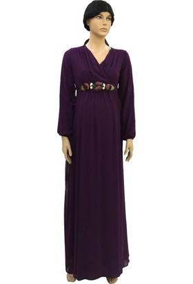 Entarim Şifon Hamile Baby Shower Elbise 6002Emor
