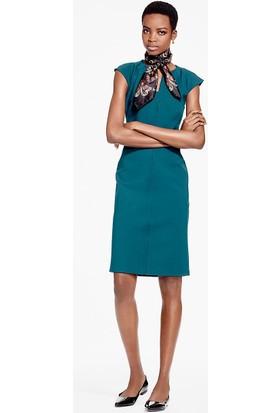 Brooks Brothers Kadın Turkuaz Mavi Örgü Midi Elbise