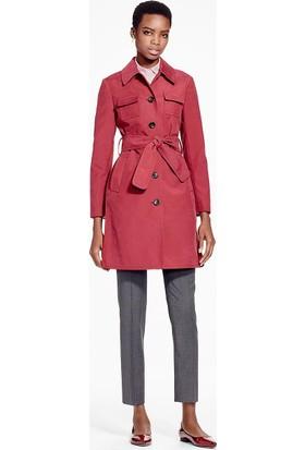 Brooks Brothers Kadın Kırmızı Trençkot