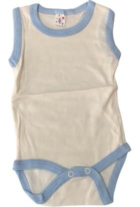Özkaplan Sıfır Kol Erkek Bebek Zıbın - Beyaz - 3-9 Ay