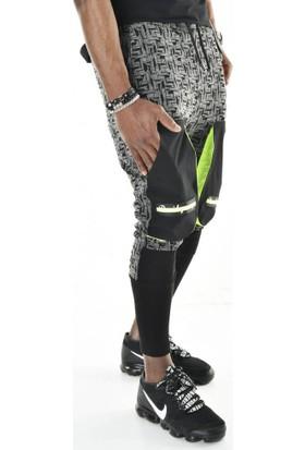 David&Gerenzo Siyah Cep Detaylı Jakar Örme Ribanalı Jogger Pantolon