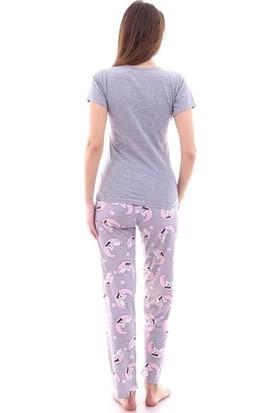 Moda Hitap Kadın Baskılı Pijama Takımı