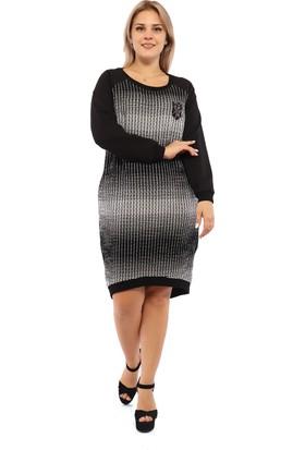 Endorfin Büyük Beden Batik Ekose Elbise