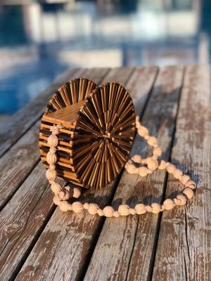 Mermeaıd's Bambu Yuvarlak El Çantası