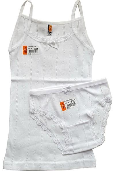 Ilke Underwear Kız Çocuk Jakarlı-Dantelli Atlet Külot TAKIM-3328