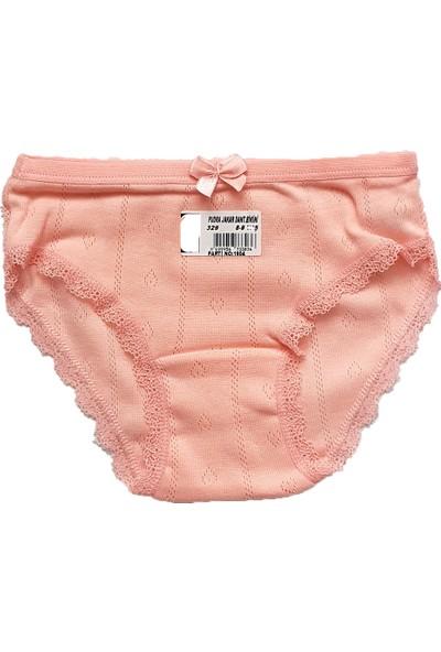 Ilke Underwear Kız Çocuk Jakarlı-Dantelli Atlet Külot TAKIM-3329