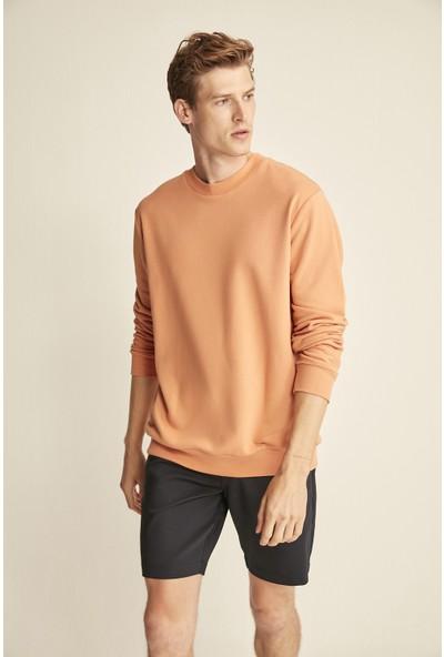 Grimelange Travıs Turuncu Renk Bisiklet Yaka Sweatshirt L