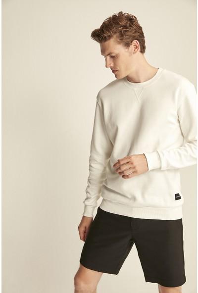 Grimelange Travıs Beyaz Renk Bisiklet Yaka Sweatshirt S
