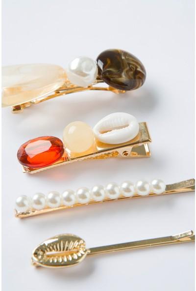 Penti Çok Renkli Pearl Toka Set