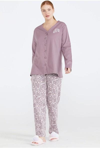 Sementa Önden Düğmeli Kadın Pijama Takım