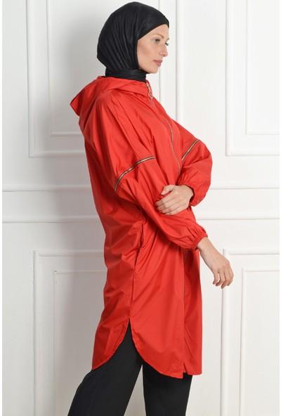 Nc Design Kadın Kırmızı Trençkot