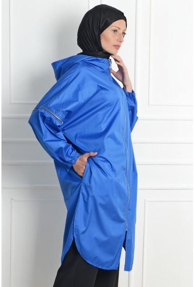 Nc Design Kadın Mavi Trençkot