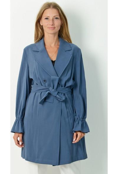 Pinkmark Kadın Mavi Trençkot
