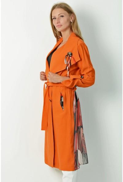 Pinkmark Kadın Oranj Trençkot