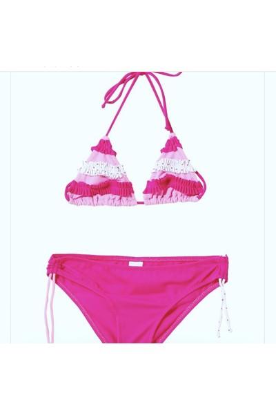 Viva Playa Fırfırlı Fuşya Bikini