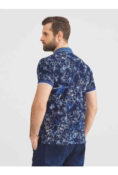 Xint Polo Yaka Pamuklu Slim Fit Desenli Büyük Beden T-Shirt